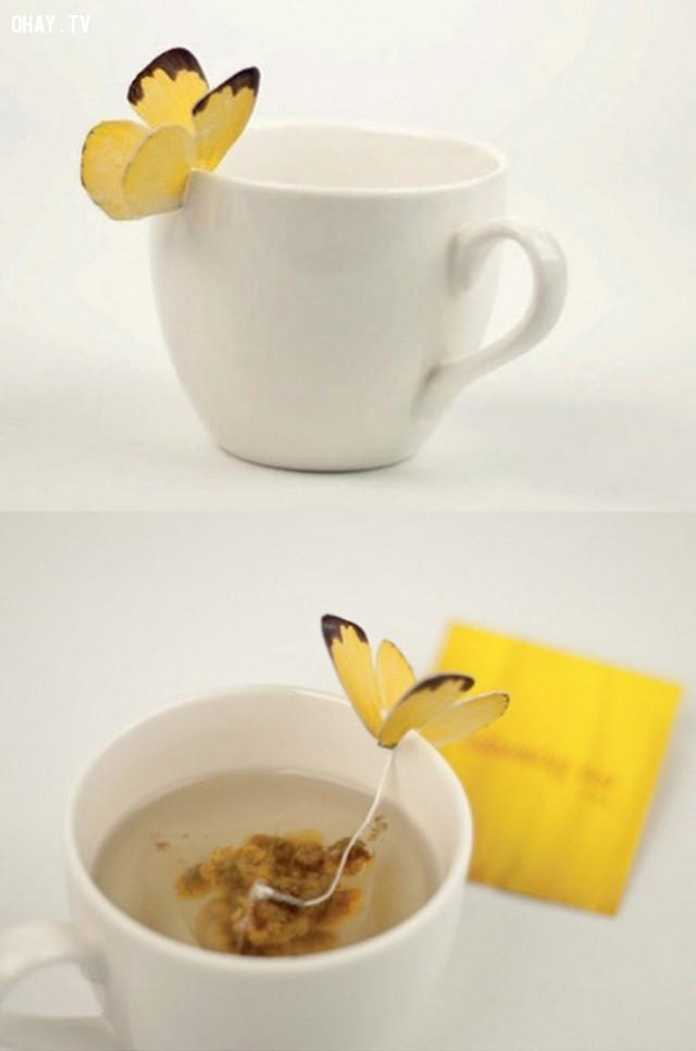 Túi trà với cánh bướm,sản phẩm sáng tạo,đóng gói sản phẩm,những điều thú vị trong cuộc sống,cách đóng gói sản phẩm