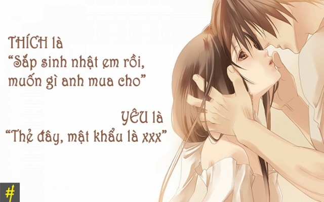 ,thích là gì,yêu là gì,thích một người,yêu một người,khác biệt giữa thích và yêu