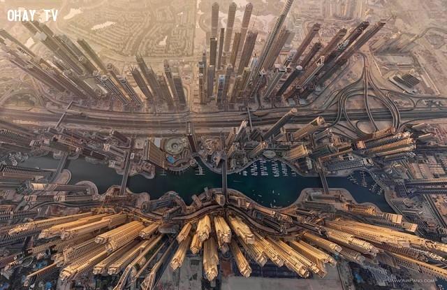 5. Dubai Marina ở Dubai, Các tiểu vương quốc Ả Rập thống nhất,ảnh đẹp,ảnh nhìn từ trên cao,du lịch vòng quanh thế giới,toàn cảnh khắp nơi trên thế giới