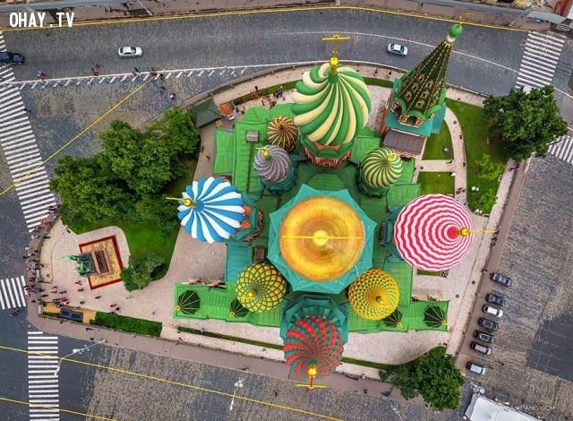 2. Nhà thờ thánh Basil ở Moscow, Nga,ảnh đẹp,ảnh nhìn từ trên cao,du lịch vòng quanh thế giới,toàn cảnh khắp nơi trên thế giới