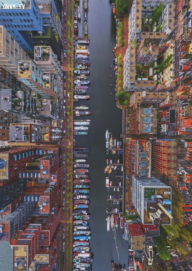 1. Quận Westerdok ở Amsterdam, Hà Lan,ảnh đẹp,ảnh nhìn từ trên cao,du lịch vòng quanh thế giới,toàn cảnh khắp nơi trên thế giới