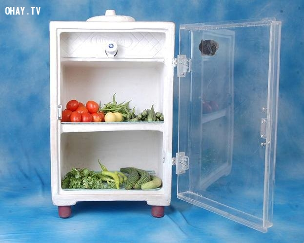 Nguyên lí hoạt động,Điện,tiết kiệm điện,tủ lạnh độc đáo,tủ lạnh không dùng điện,Mitticool