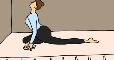 5 động tác yoga đơn giản giúp giảm căng thằng, dễ ngủ