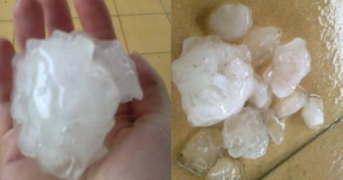 Mưa đá ở Tuyên Quang