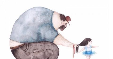 Bộ tranh minh họa cha và con gái cực kỳ cảm động và ấm áp