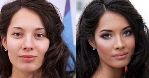 Trước và sau trang điểm-Sự thật cực sốc