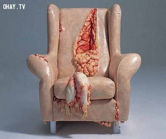 Ghế 'Bao tử',ghế ngồi,ghế ngồi kinh dị