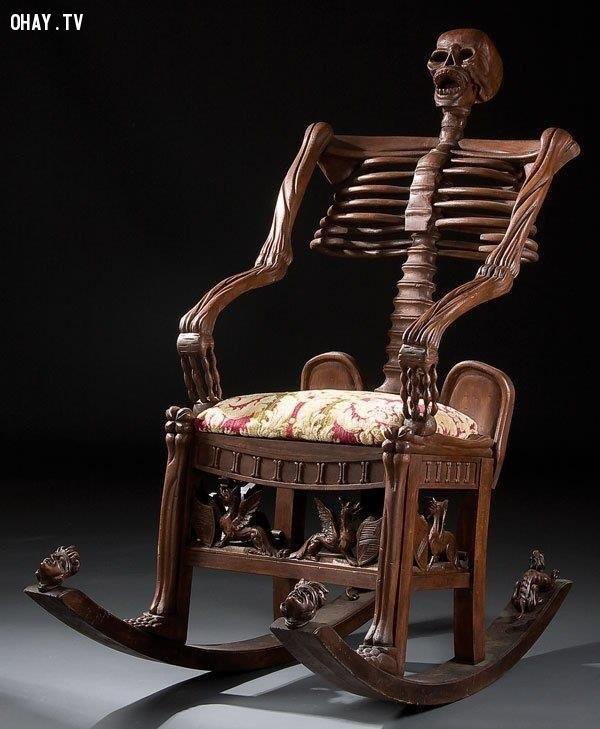 Ghế xương người,ghế ngồi,ghế ngồi kinh dị