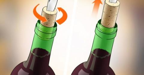 3 mẹo hay mở nút rượu vang khi không có đồ mở nút chai