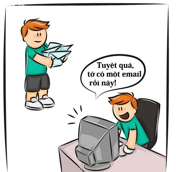 5. Bây giờ là thời đại của thư điện tử, nếu có một lá thư tay thì nó trở thành của hiếm rồi,sự thay đổi của cuộc sống,công nghệ và cuộc sống