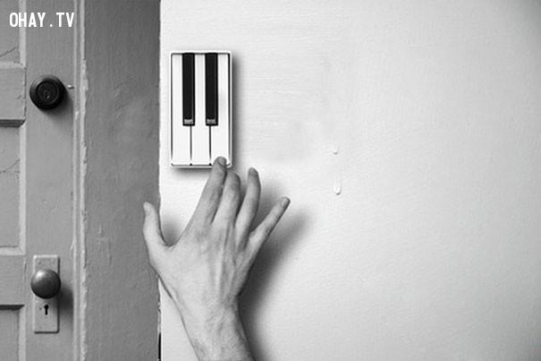 Khi chuông cửa biến thành phím đàn piano.,phát minh tương lai,sản phẩm độc đáo,những điều thú vị trong cuộc sống