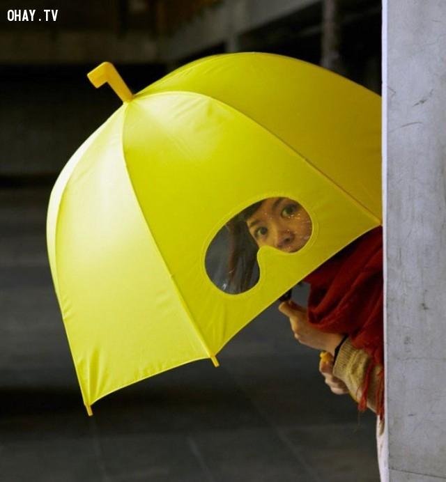 Với cây dù này bạn sẽ trở thành thám tử đấy.,phát minh tương lai,sản phẩm độc đáo,những điều thú vị trong cuộc sống
