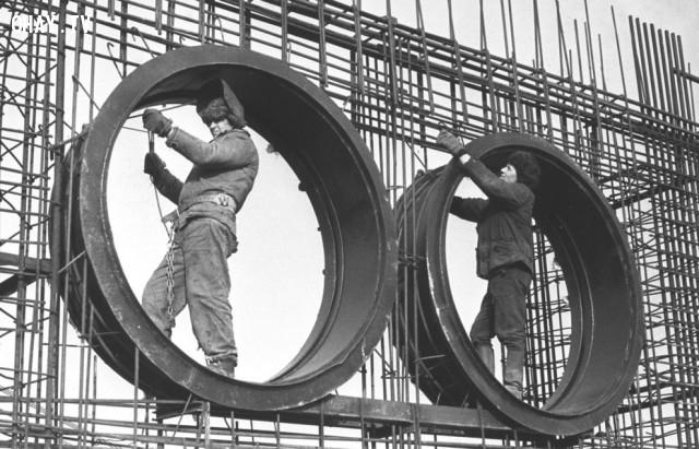 Xây dựng các nhà máy điện hạt nhân Chernobyl, 01 tháng bảy năm 1975. ,thảm họa chernobyl,nhà máy nguyên tử,khám phá