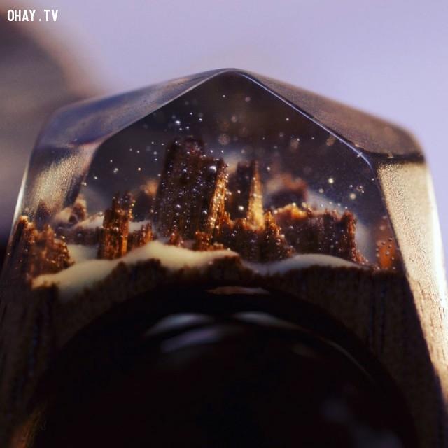 ,Secret Wood,nhẫn gỗ,sản phẩm độc đáo,thế giới bí mật,thế giới thu nhỏ,sáng tạo