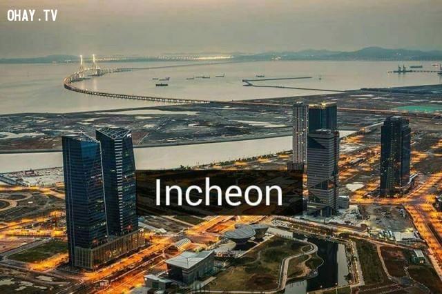 Incheon,Hàn Quốc,địa danh nổi tiếng,cảnh đẹp ở hàn quốc
