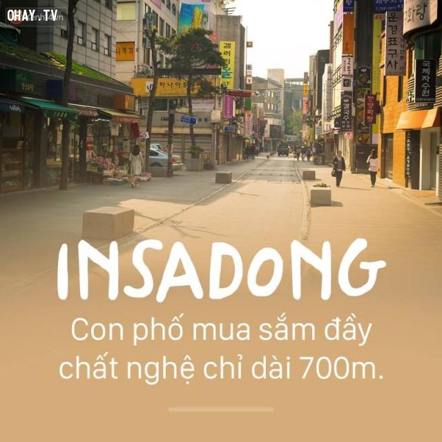 Insadong,Hàn Quốc,địa danh nổi tiếng,cảnh đẹp ở hàn quốc