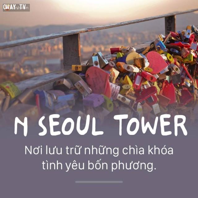 Seoul Tower,Hàn Quốc,địa danh nổi tiếng,cảnh đẹp ở hàn quốc