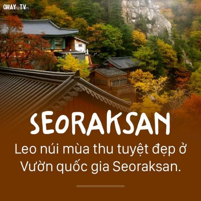 Seoraksan,Hàn Quốc,địa danh nổi tiếng,cảnh đẹp ở hàn quốc