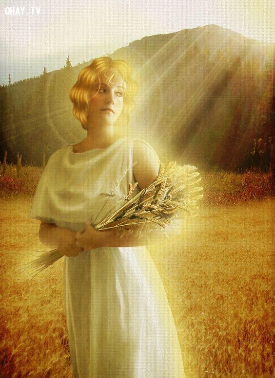 Thần Demeter (Nữ thần Nông nghiệp) - Xử Nữ,olympia,cung hoàng đạo,zeus,hades,poseidon