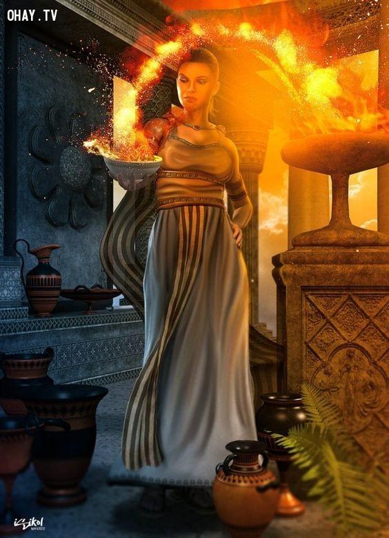 Thần Hestia (Nữ thần Lửa) - Ma Kết,olympia,cung hoàng đạo,zeus,hades,poseidon