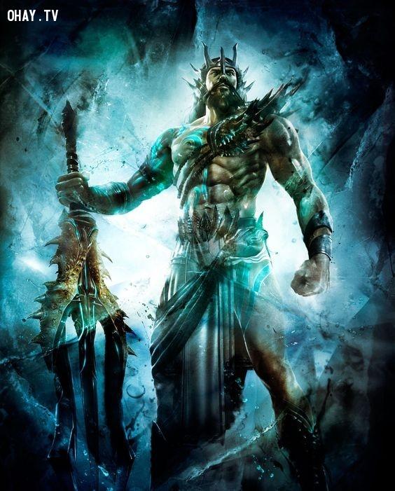 Thần Poseidon (Thần Biển cả) - Song Ngư,olympia,cung hoàng đạo,zeus,hades,poseidon
