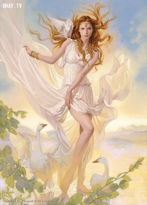 Thần Aphrodite (Nữ thần Tình yêu và Sắc đẹp) - Kim Ngưu,olympia,cung hoàng đạo,zeus,hades,poseidon