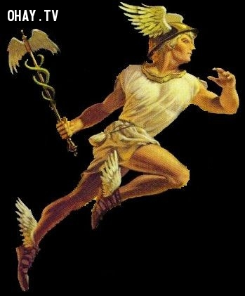 Thần Hermes (Thần Thông tin) - Cự Giải,olympia,cung hoàng đạo,zeus,hades,poseidon