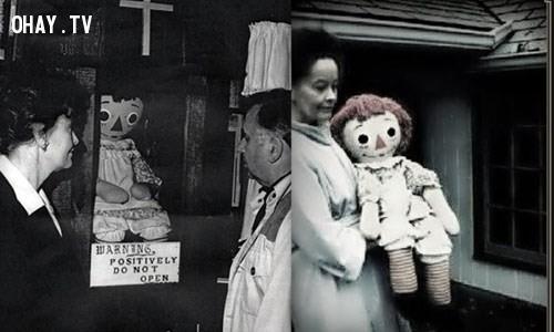 1. Búp bê Annabelle ,chuyện ma ám,câu chuyện ma ám khủng khiếp,ảnh ma ám,rùng rợn,ma quái,nguyền rủa