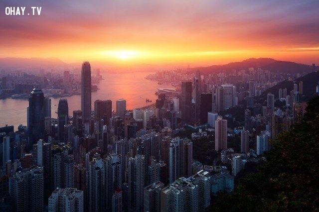 Hong Kong,bình minh,thế giới,tuyệt,đẹp,ảnh