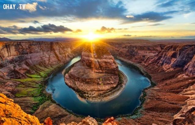 Horseshoe Bend, United States,bình minh,thế giới,tuyệt,đẹp,ảnh