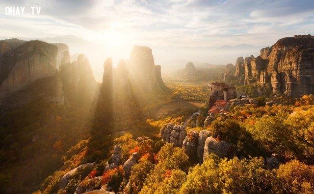 Meteora, Greece,bình minh,thế giới,tuyệt,đẹp,ảnh