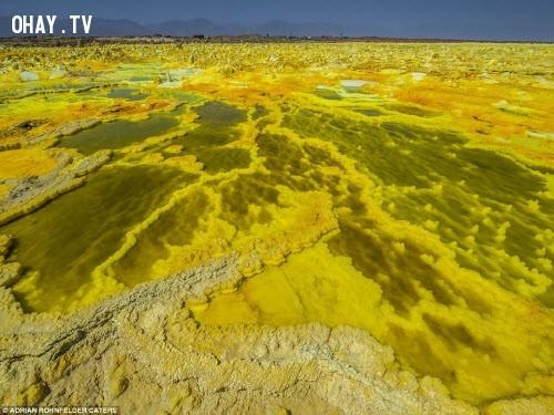6. Cánh đồng thủy nhiệt Dallol Volcano ở Ethiopia ,địa điểm tuyệt đẹp,địa điểm tuyệt đẹp ngỡ như chỉ có trong mơ,cảnh đẹp,ảnh đẹp,cảnh đẹp hùng vĩ,cảnh đẹp như mơ,khám phá thú vị
