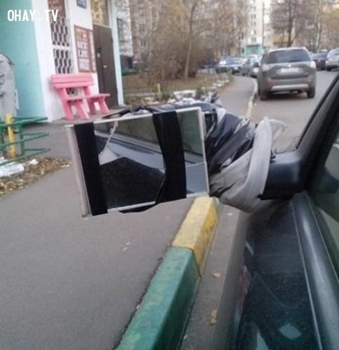 3. Gương chiếu hậu cho ô tô,cái khó ló cái khôn,những ý tưởng sáng tạo,sáng tạo hài hước,sáng tạo độc đáo