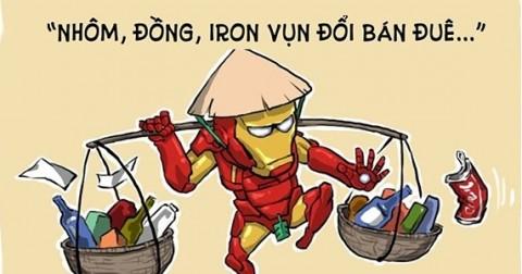 Chùm tranh hài: Sẽ ra sao nếu các siêu anh hùng sống ở Việt Nam?