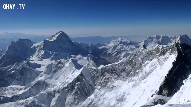 Nhìn từ trên đỉnh của thế giới - đỉnh Everest, Nepal,Tòa nhà cao nhất thế giới,những điểm cao nhất thế giới