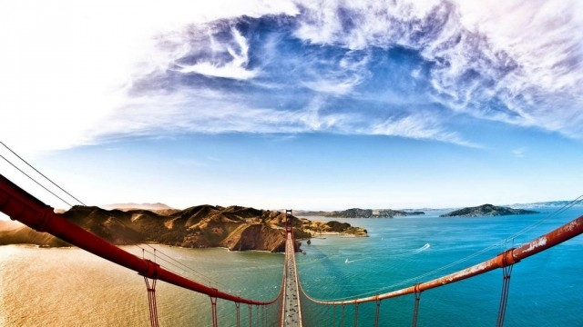 Nhìn từ đỉnh cầu Golden Gate, San Francisco, USA,Tòa nhà cao nhất thế giới,những điểm cao nhất thế giới