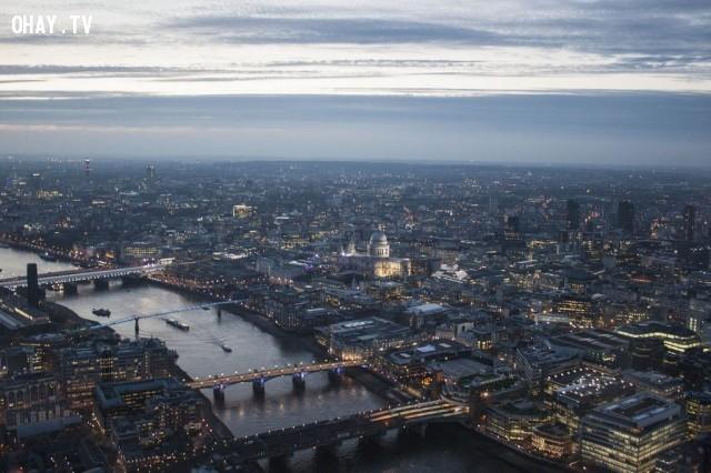 Nhìn từ đỉnh tòa nhà Shard, London, Anh,Tòa nhà cao nhất thế giới,những điểm cao nhất thế giới