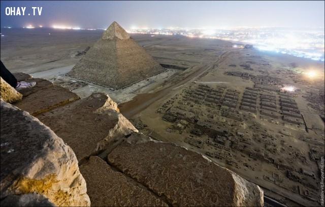Nhìn từ trên đỉnh của Kim tự tháp Giza, Ai Cập,Tòa nhà cao nhất thế giới,những điểm cao nhất thế giới