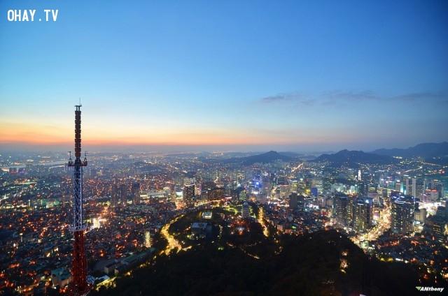 Nhìn từ trên đỉnh Tháp Seoul, Kuala Lumpur, Malaysia,Tòa nhà cao nhất thế giới,những điểm cao nhất thế giới