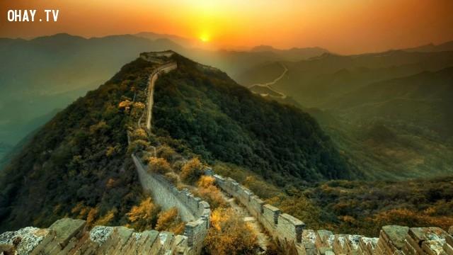 Nhìn từ điểm cao nhất của Vạn Lý Trường Thành, Trung Quốc,Tòa nhà cao nhất thế giới,những điểm cao nhất thế giới