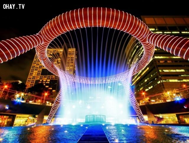 8. Đài phun nước của sự thịnh vượng, Singapore,đài phun nước,kiến trúc độc đáo,địa điểm du lịch