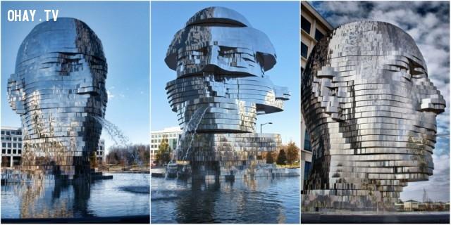 1. Metalmorphosis Mirror (Mặt gương), Mỹ,đài phun nước,kiến trúc độc đáo,địa điểm du lịch