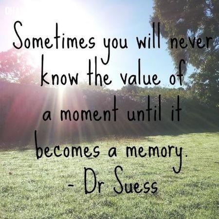 Đôi khi bạn sẽ không biết được giá trị của khoảnh khắc hiện tại cho đến khi nó trở thành ký ức ,câu nói hay,câu nói truyền cảm hứng