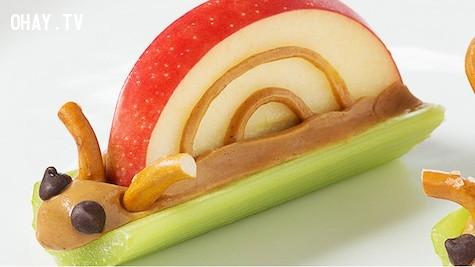 Ốc sên bơ đậu phộng ,đáng yêu,khởi động ngày mới,công thức