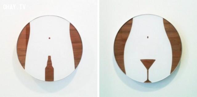 ,sáng tạo,độc đáo,biển báo toilet