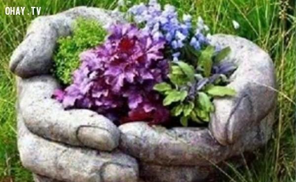 ,mẹo làm vườn,cách làm chậu hoa,mẹo vặt