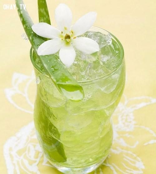 1.Nước nha đam,thức uống mùa hè,thức uống thanh nhiệt,thức uống đẹp da,pha chế thức uống đơn giản