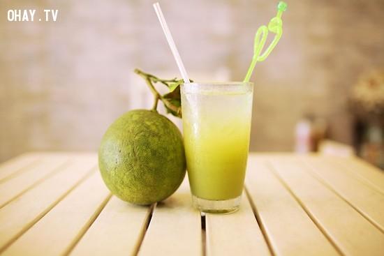 3.Nước bưởi ép,thức uống mùa hè,thức uống thanh nhiệt,thức uống đẹp da,pha chế thức uống đơn giản