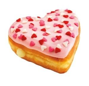 Donut trái tim rất thích hợp làm quà tặng Valentine ,bánh donut,bánh donut đáng yêu