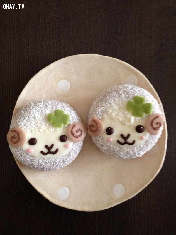 Đặc biệt là những chiếc bánh được tạo hình thú xinh ngất ngây,bánh donut,bánh donut đáng yêu